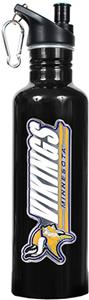 NFL Minnesota Vikings Black Stainless Water Bottle