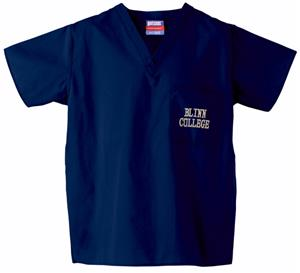Blinn College Navy Classic Scrub Tops
