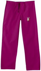 Bloomsburg University Maroon Classic Scrub Pants
