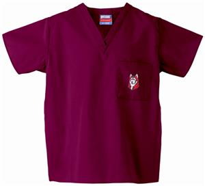 Bloomsburg University Maroon Classic Scrub Tops