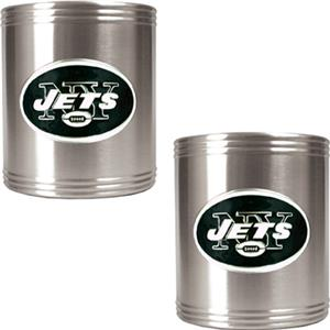 NFL New York Jets Stainless Steel Can Holders