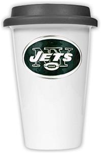 NFL New York Jets Ceramic Cup with Black Lid
