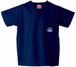 Boise State University Navy Classic Scrub Tops