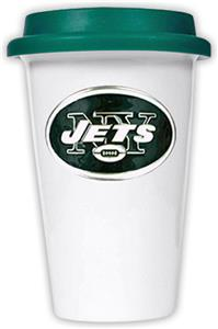 NFL New York Jets Ceramic Cup with Green Lid