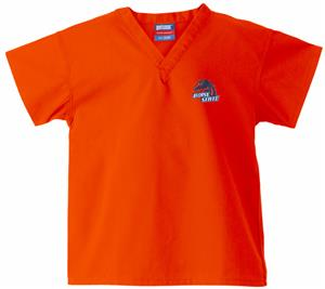 Boise State University Kid&#39;s Orange Scrub Tops