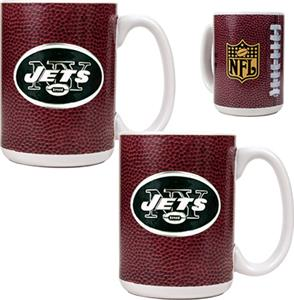 NFL New York Jets Gameball Mug (Set of 2)
