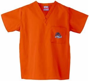 Boise State University Orange Classic Scrub Tops
