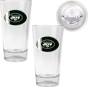 NFL New York Jets 2 Piece Pint Glass Set