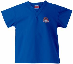 Boise State University Kid's Royal Scrub Tops