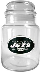 NFL New York Jets Glass Candy Jar