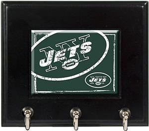 NFL New York Jets Wood Keyhook Rack