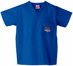 Boise State University Royal Classic Scrub Tops