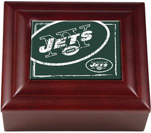 NFL New York Jets Mahogany Keepsake Box
