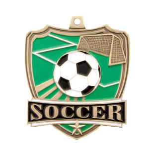 """Hasty Awards 2.5"""" Soccer Shield Medals M-735S"""