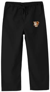 Bowling Green State Univ Kid's Black Scrub Pants