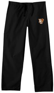 Bowling Green State Univ Black Classic Scrub Pants