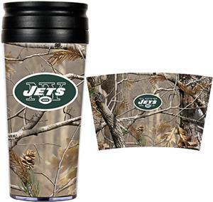 NFL New York Jets 16oz Realtree Travel Tumbler