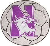 Fan Mats Northwestern University Soccer Ball Mat