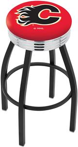 Calgary Flames NHL Ribbed Ring Bar Stool