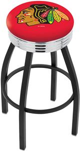 Chicago Blackhawks Red NHL Ribbed Ring Bar Stool