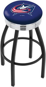 Columbus Blue Jackets NHL Ribbed Ring Bar Stool