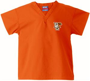 Bowling Green State Univ Kid&#39;s Orange Scrub Tops