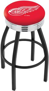 Detroit Red Wings NHL Ribbed Ring Bar Stool