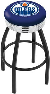 Edmonton Oilers NHL Ribbed Ring Bar Stool