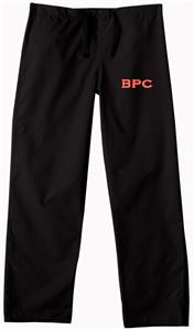 Brewton Parker College Black Classic Scrub Pants