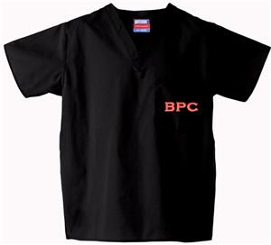 Brewton Parker College Black Classic Scrub Tops