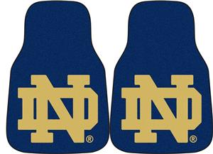 Fan Mats Notre Dame Carpet Car Mats 2PC Set