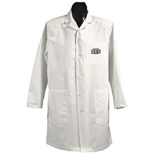 Brigham Young University White Long Labcoats
