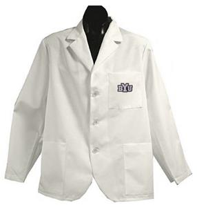 Brigham Young University White Short Labcoats