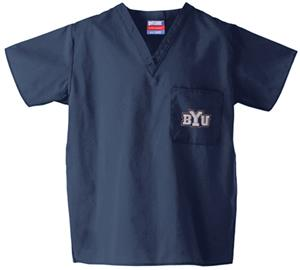 Brigham Young University Navy Classic Scrub Tops