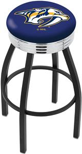 Nashville Predators NHL Ribbed Ring Bar Stool