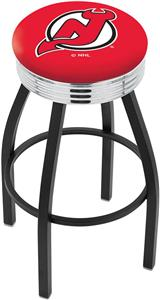 New Jersey Devils NHL Ribbed Ring Bar Stool