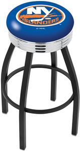 New York Islanders NHL Ribbed Ring Bar Stool