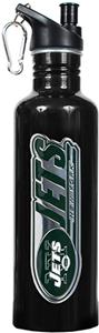 NFL New York Jets Black Stainless Water Bottle