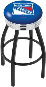 New York Rangers NHL Ribbed Ring Bar Stool