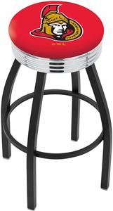 Ottawa Senators NHL Ribbed Ring Bar Stool