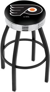 Philadelphia Flyers Blk NHL Ribbed Ring Bar Stool