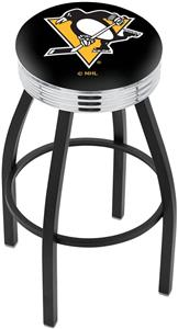 Pittsburgh Penguins NHL Ribbed Ring Bar Stool