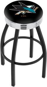San Jose Sharks NHL Ribbed Ring Bar Stool