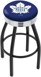 Toronto Maple Leafs NHL Ribbed Ring Bar Stool