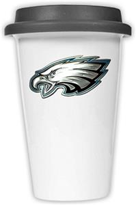 NFL Philadelphia Eagles Ceramic Cup with Black Lid