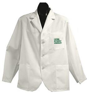 Central Methodist Univ White Short Labcoats