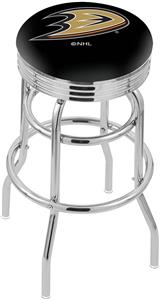 Anaheim Ducks NHL Ribbed Double-Ring Bar Stool