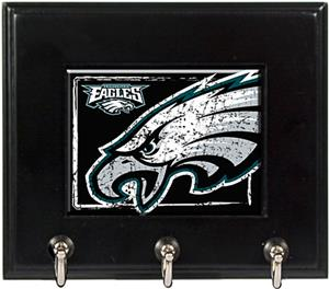NFL Philadelphia Eagles Wood Keyhook Rack