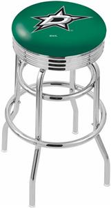 Dallas Stars NHL Ribbed Double-Ring Bar Stool