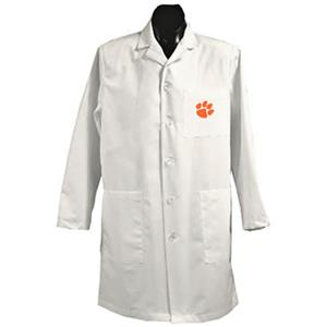 Clemson University White Long Labcoats